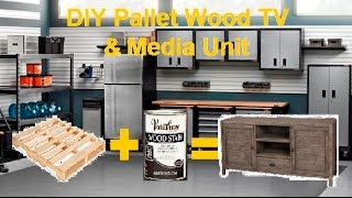 In this Video I show you how to make a TV Entertainment Unit/ TV Stand out of free pallet wood! Inspiration came from a similar unit