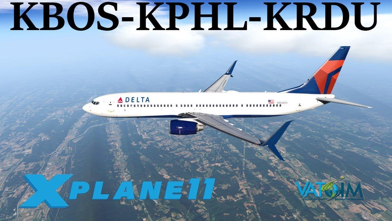 X-Plane 11 | Zibo Mod 3_36_Full!! | B738 | VATSIM | New York City,  Washington & Boston!!