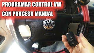PROGRAMAR CONTROL REMOTO A VOLKSWAGEN/AUDI CON PROCESO MANUAL