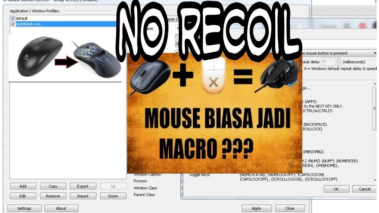 Mouse Biasa No Recoil Begini Cara Setting Macro Xmousebuttoncontrol No Recoil Pointblank Youtube