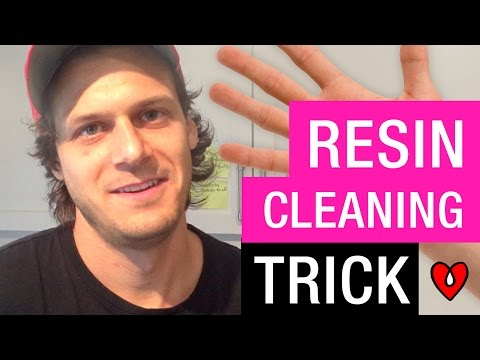How to Clean Resin Off Your Hands