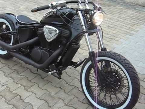 honda vt 600 bobber black bad ass youtube. Black Bedroom Furniture Sets. Home Design Ideas