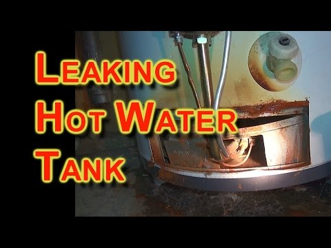 how to stop hot water tank from leaking