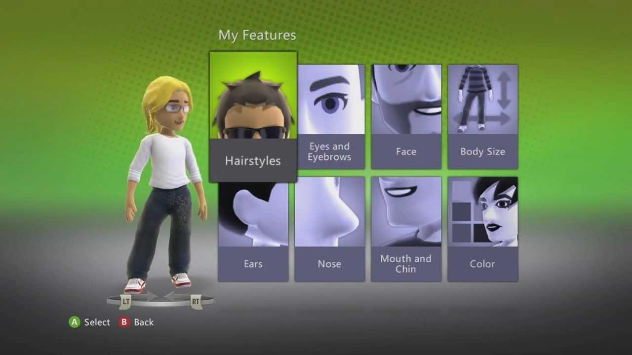 xbox 360 avatar secret hair colors!! - youtube