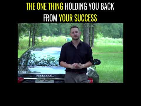 The One Thing Holding You Back From Your Success