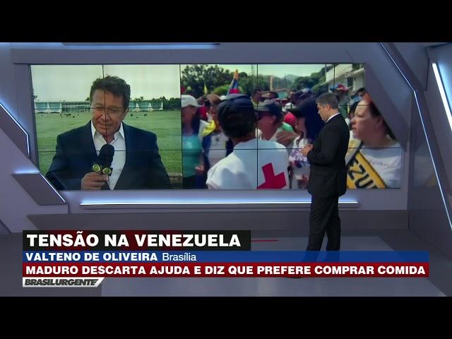 Maduro descarta ajuda e diz que prefere comprar comida