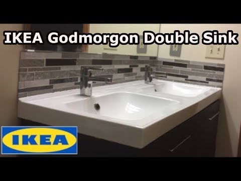 ikea godmorgon double sink installation youtube. Black Bedroom Furniture Sets. Home Design Ideas