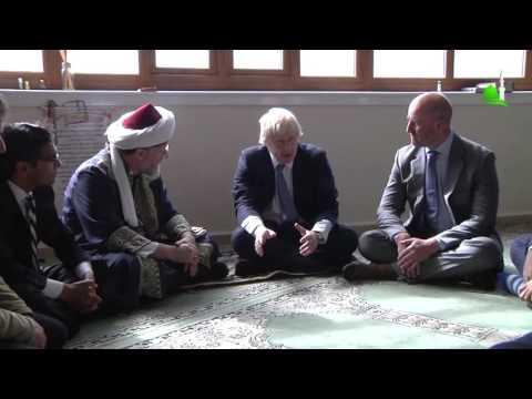 visit of Mayor Johnson to UK Albanian Community Mosque on 01/05/2015