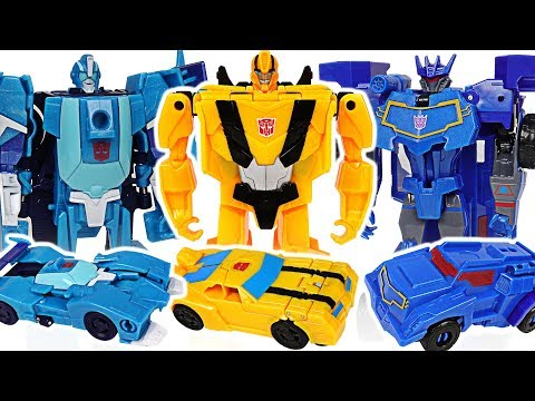 Transformers Cyberverse 1-Step Changer Bumblebee, Blurr VS Soundwave battle!! #DuDuPopTOY