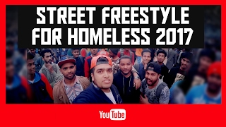 RUN BHG visits STREET FREESTYLE FOR HOMELESS 2017 || Freestyle rap || B BOying || and more