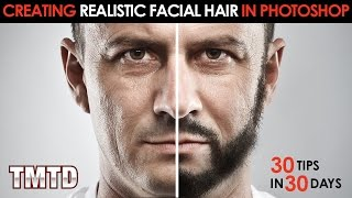 Creating Realistic Facial Hair in Photoshop