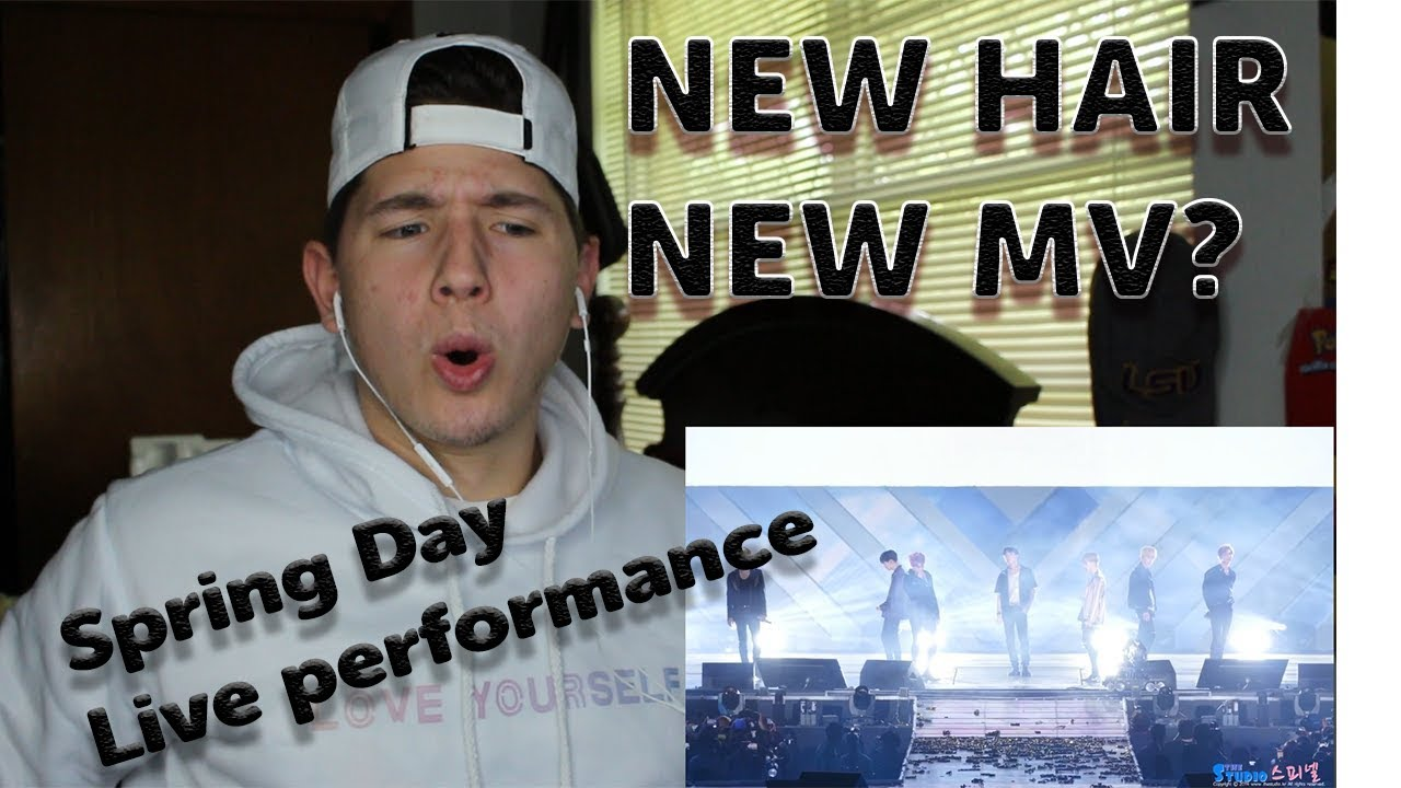 NEW HAIR!!? | BTS 봄날 Spring Day Fancam 4K LIVE PERFORMANCE REACTION