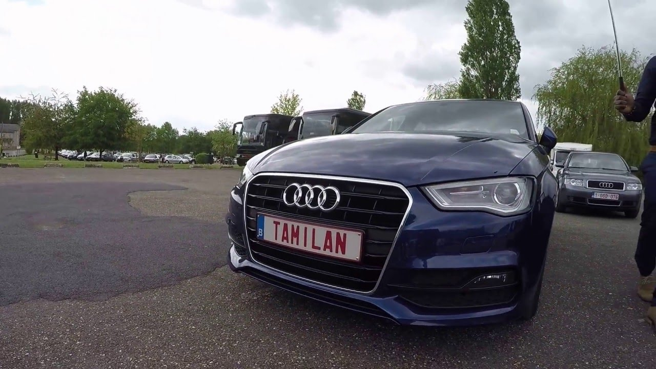 AUDI A SALOON WITH TAMILAN NUMBER PLATE IN BELGIUM YouTube - Audi car number