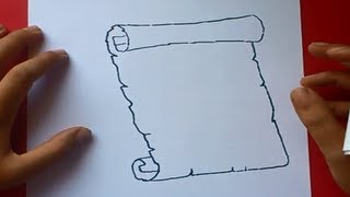 Como dibujar un pergamino paso a paso 2 | How to draw a scroll 2