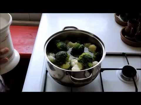 Receta de crema de brócoli y coliflor