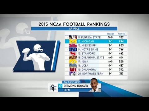 Desmond Howard of ESPN Talks Michigan Football on The RE Show - 10/12/15