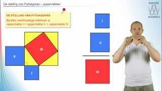 Pythagoras - De stelling van Pythagoras deel 1 - WiskundeAcademie