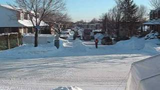 Snow removal in Laval Quebec Canada
