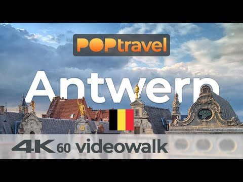 Walking in ANTWERP / Belgium 🇧🇪 4K 60fps (UHD)