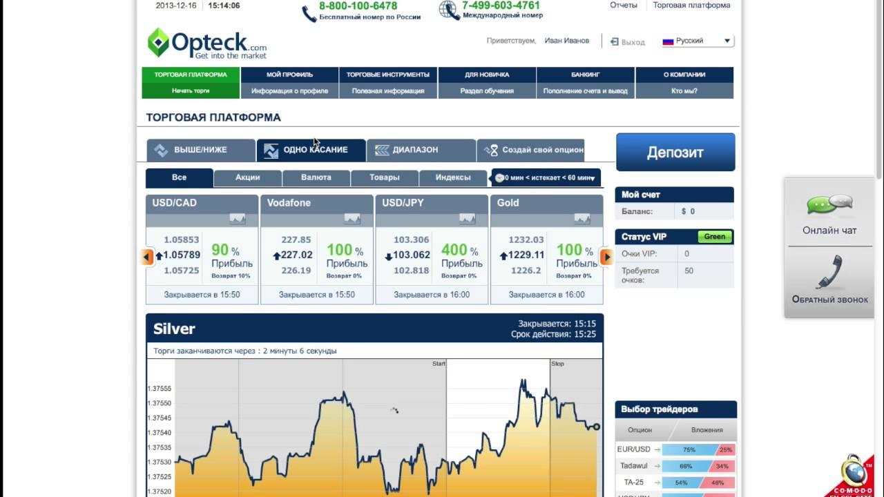 Opteck - Обзор Брокера Бинарных Опционов | Молодой Брокер Бинарных Опционов