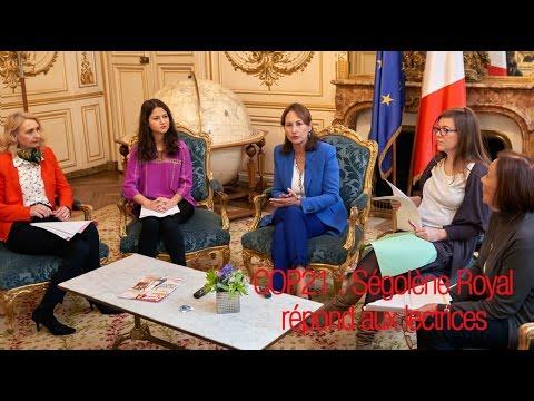 COP21 : Ségolène Royal répond aux lectrices de Femme Actuelle