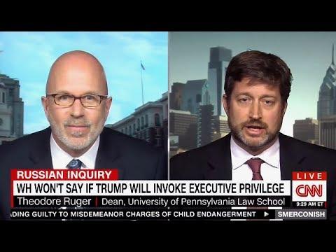 Dean Of Uni Of Penn Law School - TRUMP's Executive Privileged? - CNN