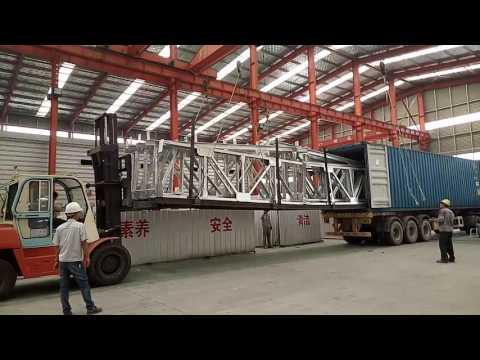 Light Prefabricated Steel Structure Warehouse Workshop Loading
