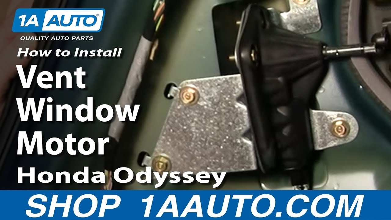 fuse box jeep cherokee sport 2000 how to replace vent window motor 99 04 honda odyssey youtube  how to replace vent window motor 99 04 honda odyssey youtube