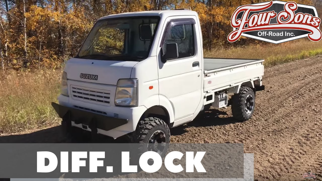 Custom Suzuki Carry Mini Truck with Diff  Lock! Test Drive