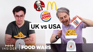 US vs UK Portion Size Differences (KFC, McDonald's, Burger King) | Food Wars