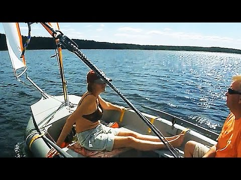 видео: dinghy sailing holidays: sails on the lake / Швертбот на озере