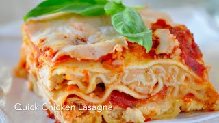 5 Ingredient Easy Chicken Lasagna With Rotisserie Chicken!-my Go-to Family Dinner