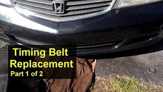Honda Odyssey timing belt replacement, how to. Part 1 of 2 - VOTD