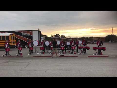 Tomball High School Band 2016 - Drumline Warm Up - Diet Trolls
