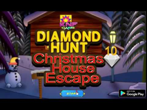 Knf Diamond hunt 10  Christmas House Escape walkthrough