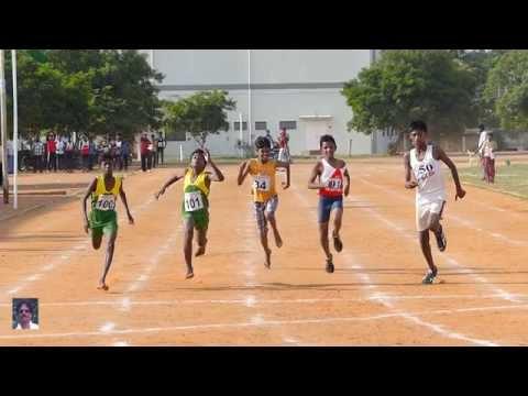 BOYS U 14  100m RUN FINAL.   THANJAVUR EDUCATIONAL DT (RDS). SPORTS MEET-2015