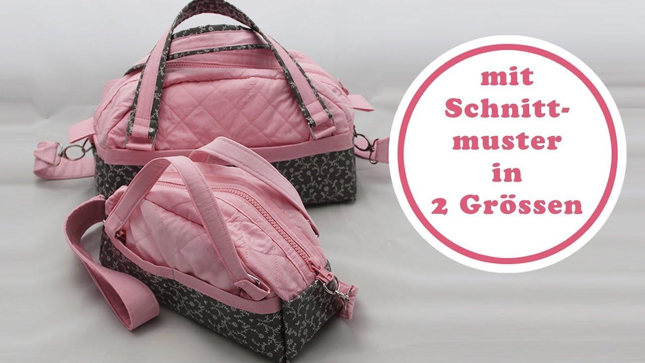 Handtasche nähen mit Schnittmuster   Handtasche Paris als Mini und ...
