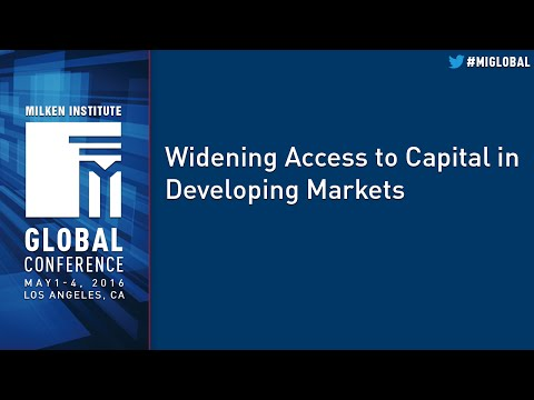 Widening Access to Capital in Developing Markets