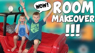 Twins Surprise Room Makeover - Speed Cleaning Room Changeup