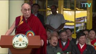 His Holiness the Dalai Lama's speech during Sikyong swearing-in ceremony