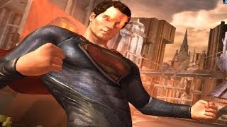 Injustice: Gods Among Us - Man of Steel Superman Super Attack Moves [iPad] [REMASTERED]