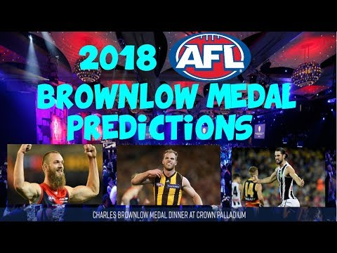 2018 AFL Brownlow Medal Predictions
