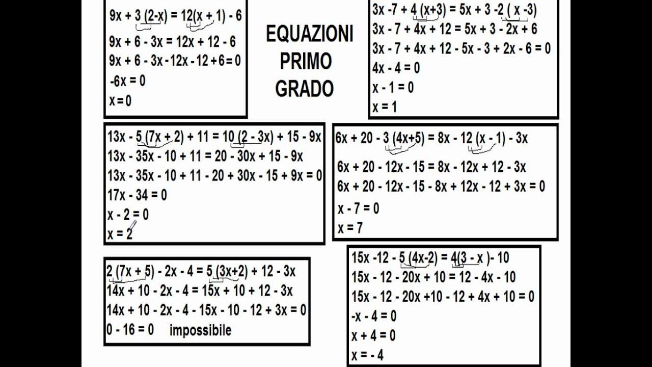 Equazioni di primo grado youtube - Tavola di tracciamento secondo grado ...