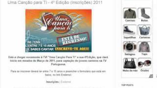 Uma canção para ti - 4º edição (inscrições) 2011