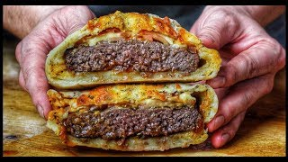 CALZONE PIZZA BURGER - english Grill- and BBQ-Recipe - 0815BBQ