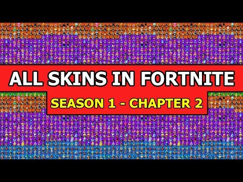 *ALL* FORTNITE SKINS From Season 1 To Chapter 2 *COMPLETE SHOWCASE*
