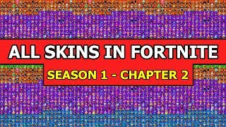 Gambar cover *ALL* FORTNITE SKINS from Season 1 to Chapter 2 *COMPLETE SHOWCASE*