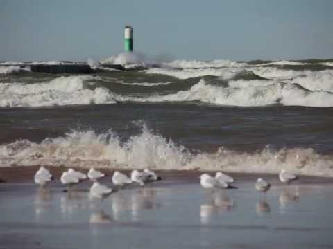 Winds of March whip up the surf at South Haven