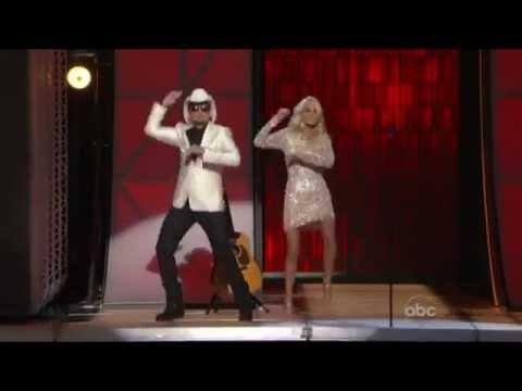 Carrie Underwood & Brad Paisley- Yolo Gangnam Style CMA Awards 2012
