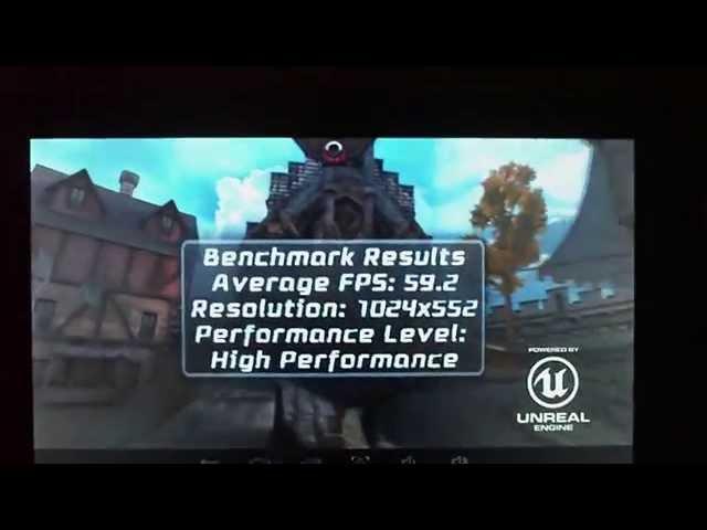 Epic Citadel Unreal Engine  Intel Atom z2520 2x1,2ghz 2GB PowerVR SGX 544mp2 Pentagram Actina 7i